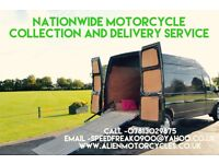nationwide motorcycle collection and delivery services fully insured