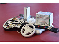Nintendo Wii Console / Balance Board / Mario Kart & many more games / Guitar Hero - £70
