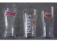 PINT GLASSES VARIOUS DESIGNS BRAND NEW
