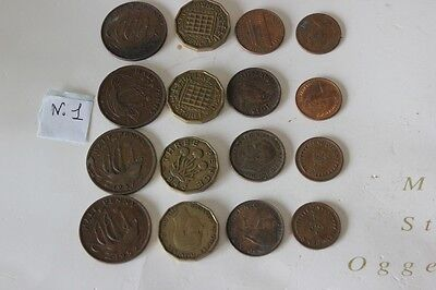 LOTTO DI MONETE INGLESI anno 1937 a 1979 1\2 PENNY -3 PENNY- ONE CENT - FARTHING