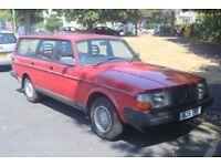 Volvo 240 Torslanda Estate 2.0L Red Manuel 1993 No MOT
