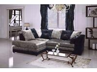 special 3+2 promotion sofa set 5 only to clear modern crush velvet black