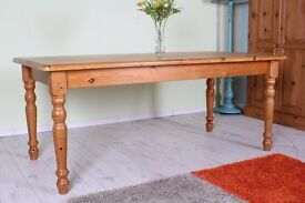 SOLID PINE FARMHOUSE TABLE 6X3 FT - CAN DELIVER UK WIDE