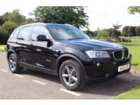 2011 BMW X3 XDRIVE 2.0D SE AUTO BLACK