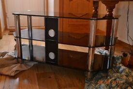 television table smoke glass 41 inch by 18 .dismanted .£10 ..