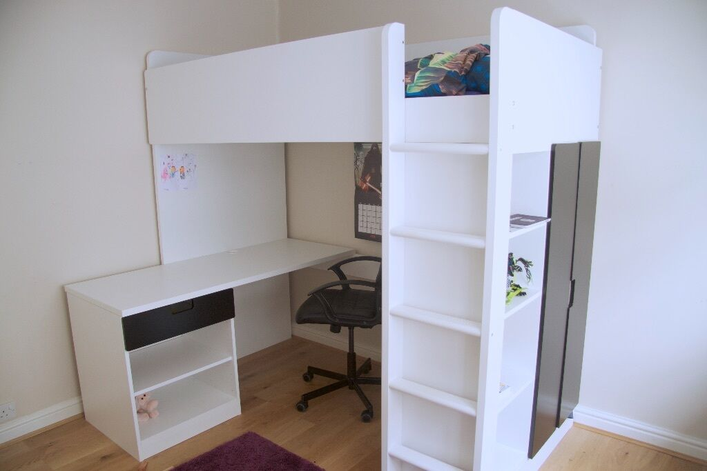 Ikea Cabin Bed Including Built In Desk And Wardrobe