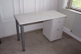 Desk and drawer unit for child's bedroom.