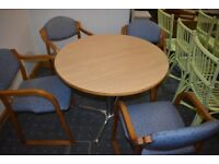 Round Dinning table and 4 chairs