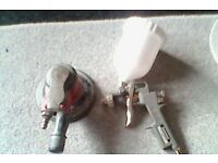 air sander and brand new spray gun