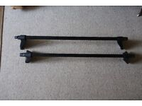Roof bars for a SAAB 95 saloon model 1997 onwards - in good condition complete with fitting strips