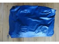 Double air mattress with foot pump