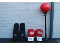 Boxing ball with accessories