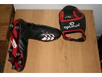 Canterbury Rugby Boots and Optimum Scrum Cap.