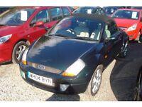 Ford Street KA Convertible 2004-04-plate, 1600cc petrol, 77,000 miles,