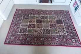 170x230cm Maroon and Cream coloured rug. Excellent condition