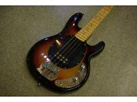 Wesley EB Musicman Style 4-String Bass in Sunburst Finish