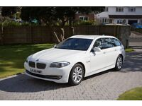 2011(61) BMW 520d SE Touring Estate in white with cream leather