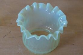 Small Antique Vaseline-Glass (?) Lampshade / Lamp Shade / Light Shade.