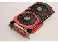 MSI GEFORCE 1070 gaming X, 8GB in excellent condition