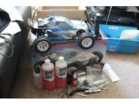 brand new radio control nitro car and accessories