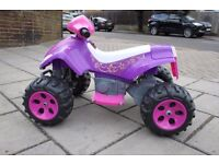 Avigo Battery/Electric Powered Quad Bike/Car In Pink ** NEARLY NEW IN EXCELLENT/PERFECT ORDER !! **