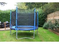 8ft Trampoline with safety net in good condition