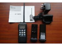 ICOM IC-M35 VHF Handheld Marine Transceiver, with Li-ion battery, AC adapter/charger