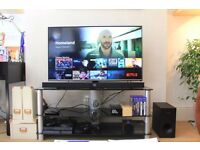 "43"" Samsung Smart FULL HD LED TV and Bluetooth Sound bar (free TV stand)"