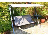 Outdoor Garden Patio Swing Swinging Chair Hammock 2, 3 or 4 seat seats w/ Canopy Sunshader