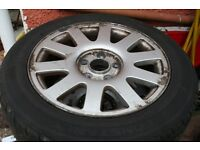 Audi A4 B5 1999 Speedline Alloy Wheels & Low Use 205 55 16 Tyres 4A0601025P VAG