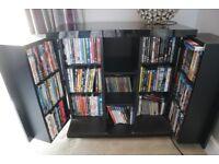 Black high gloss DVD storage unit for sale