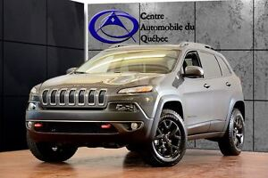 2017 Jeep Cherokee Trailhawk V6 4X4 CUIR TOIT-PANO HITCH LOCATIO