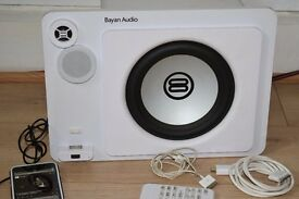 AUDIO IPOD DOCK/AUX IN/USB/REMOTE PLAY PHONE MUSIC CAN BE SEEN WORKING