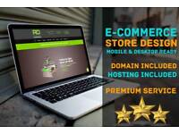 E-commerce Web Design, Domain Name & Hosting Included, Monthly Backups