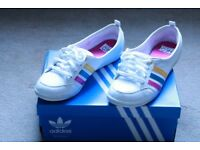 ADIDAS NEO PIONA F38867/BALLERINAS TRAINERS SUMMER SHOES WHITE WORE 2 TIMES UK SIZE 6 EURO 39 1/3