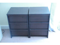 2x SMALL CHEST OF DRAWERS
