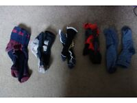 Selection of men's socks, Hilly, La Sportiva, Bridgedale, 1000 Mile Ankle Length to fit size UK11.