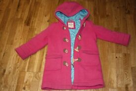 Mini boden pink duffel coat aged 5-6 years