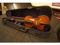 Antique violin, possible a Voigt, with case and new bow.