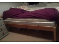 Pine Double Bed - dismantled for easy transport