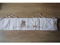 Mothercare winter cot bumper with print of bear