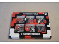 6 Classic Metal Brain Busting Puzzles in Perfect Condition