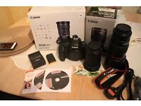 Canon EOS 6D + EF 24-105 IS STM Lens Kit +EF 100MM 2.8l