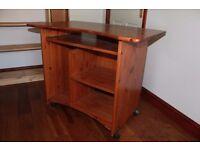 dark pine computer desk
