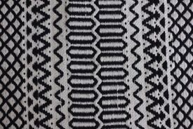 Next 100% Cotton Black and White Runner Rug Carpet Classic Modern High Quality Natural