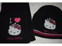 Hello Kitty hat, scarf