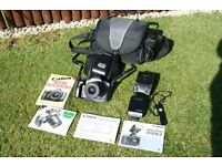 Canon EOS 600 film camera kit.