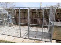 Galvanised dog pen/run and kennel. £250