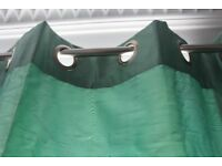 Pair of The Range Eyelet Curtains, Green, 130 w x 256 d (1 curtain), Used, Great Condition