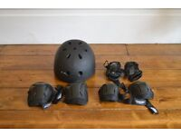 Skateboard/scooter junior helmet and protection pads by Stateside Skates Ltd